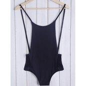 swimwear,black,one piece swimsuit,fashion,style,beach,summer,sexy,open back,rosewholesale.com