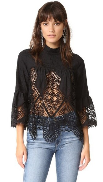 top lace top victorian lace black