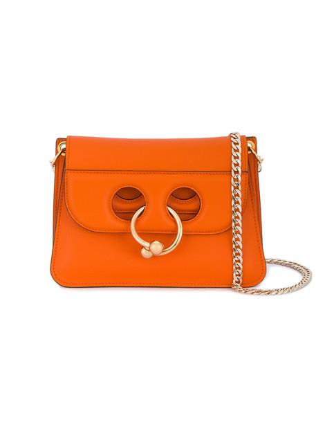 JW Anderson mini metal women bag messenger bag leather yellow orange