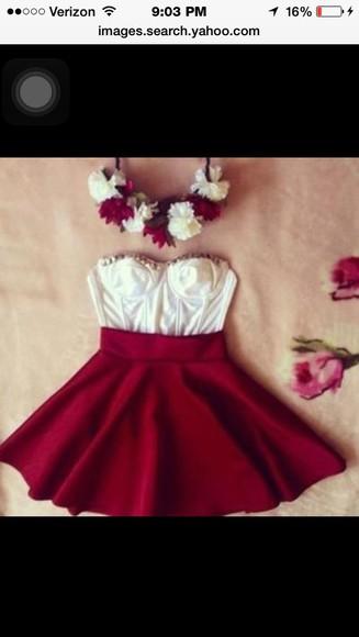 bustier dress white dress bustier red dress