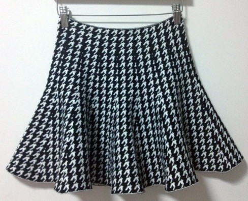 Waist Pleated Tennis Skirt Girl White and Black Plaid Skirts ...