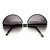 Womens Designer Inspired Super Round Oversize Two Tone Sunglasses 9408