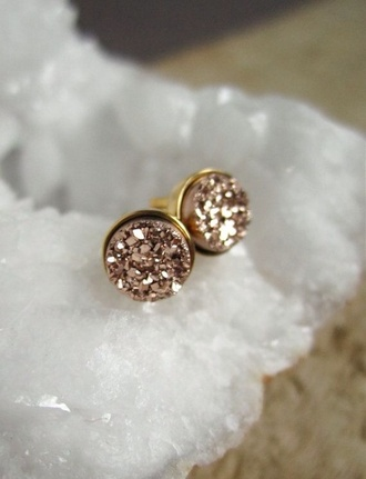 jewels earrings jewelry rose gold pink