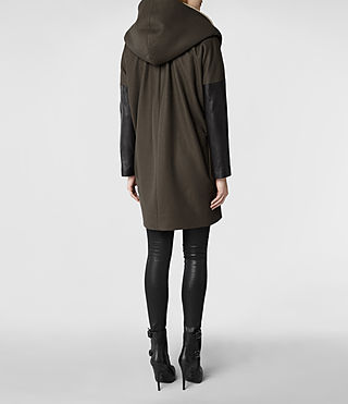 Womens Klein Shearling Parka Jacket (Khaki) | ALLSAINTS.com