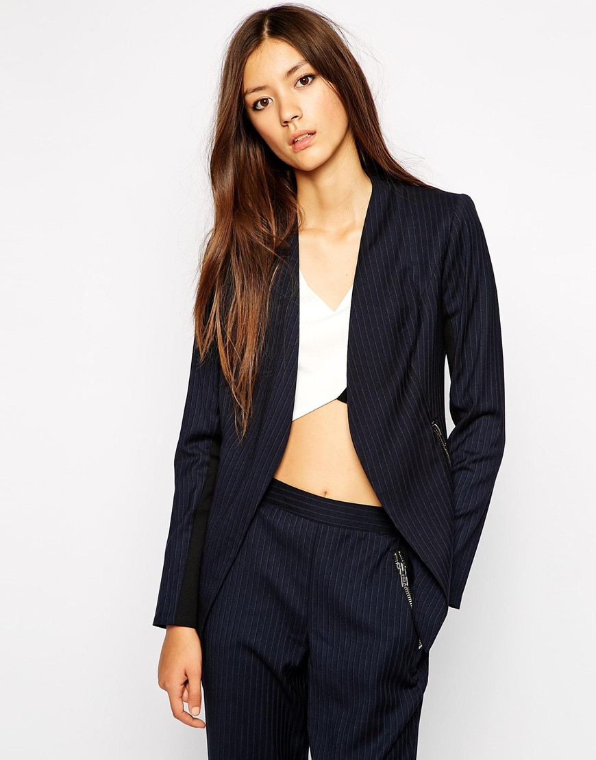 Bcbgeneration suit in pinstripe at asos.com