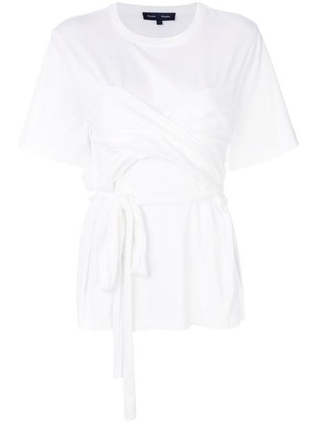 Proenza Schouler t-shirt shirt t-shirt short women white cotton top