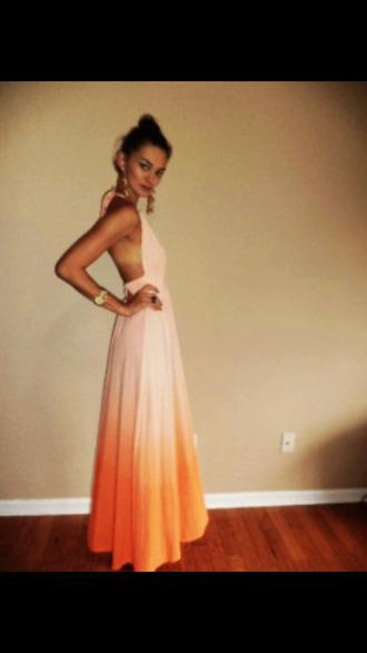 organge tie dye dress orange dress tiedye tie dye maxi dress