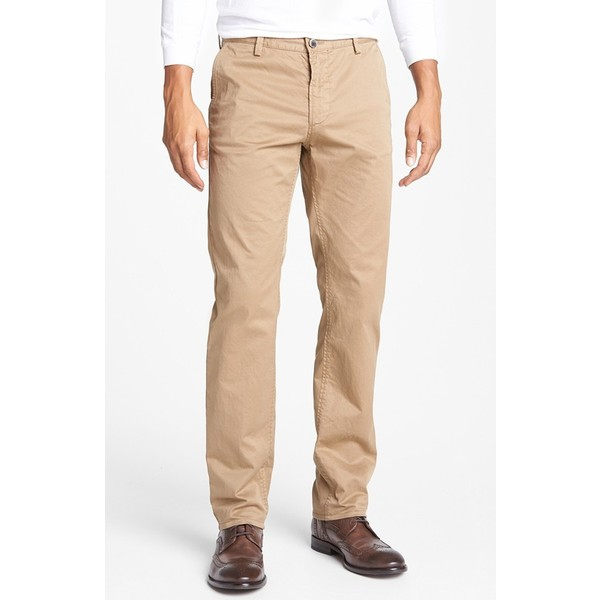 BOSS HUGO BOSS 'Rice' Pants Khaki Slim Gab 34 - Polyvore
