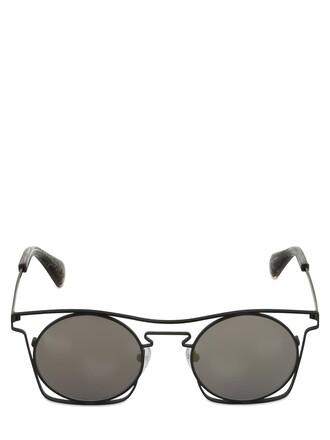 metal sunglasses matte black matte black