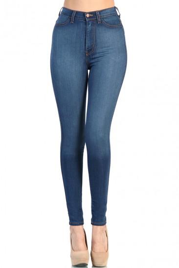 LoveMelrose.com From Harry & Molly   High Waist Blue Jean