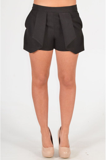 Barnaby Skort Style Short In Black - Pop Couture