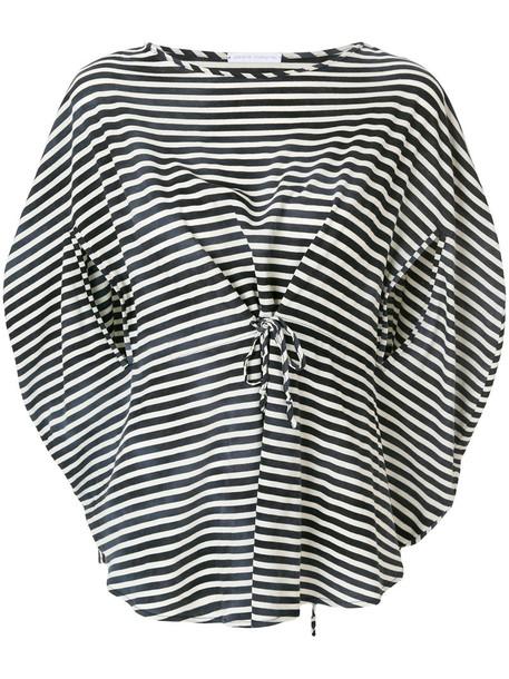 Société Anonyme top striped top women cotton blue