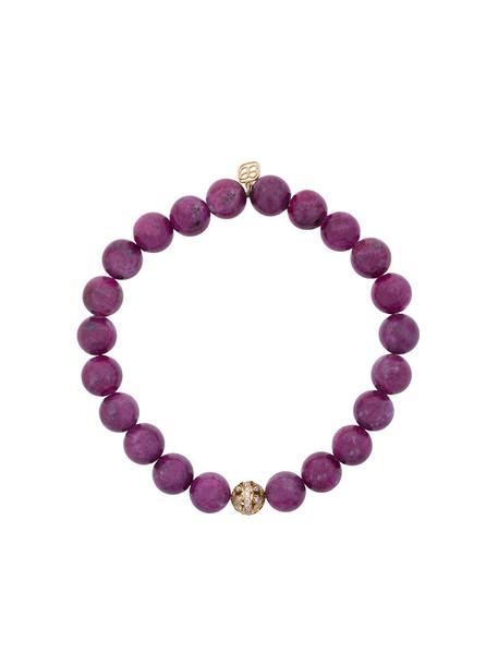 sydney evan beaded bracelet women butterfly beaded gold red jewels