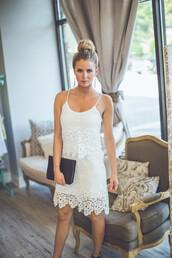 dress,crochet,lace,white,ivory,bride,bridal,bridesmaid,reception,layers,entourage,layered,spaghetti strap