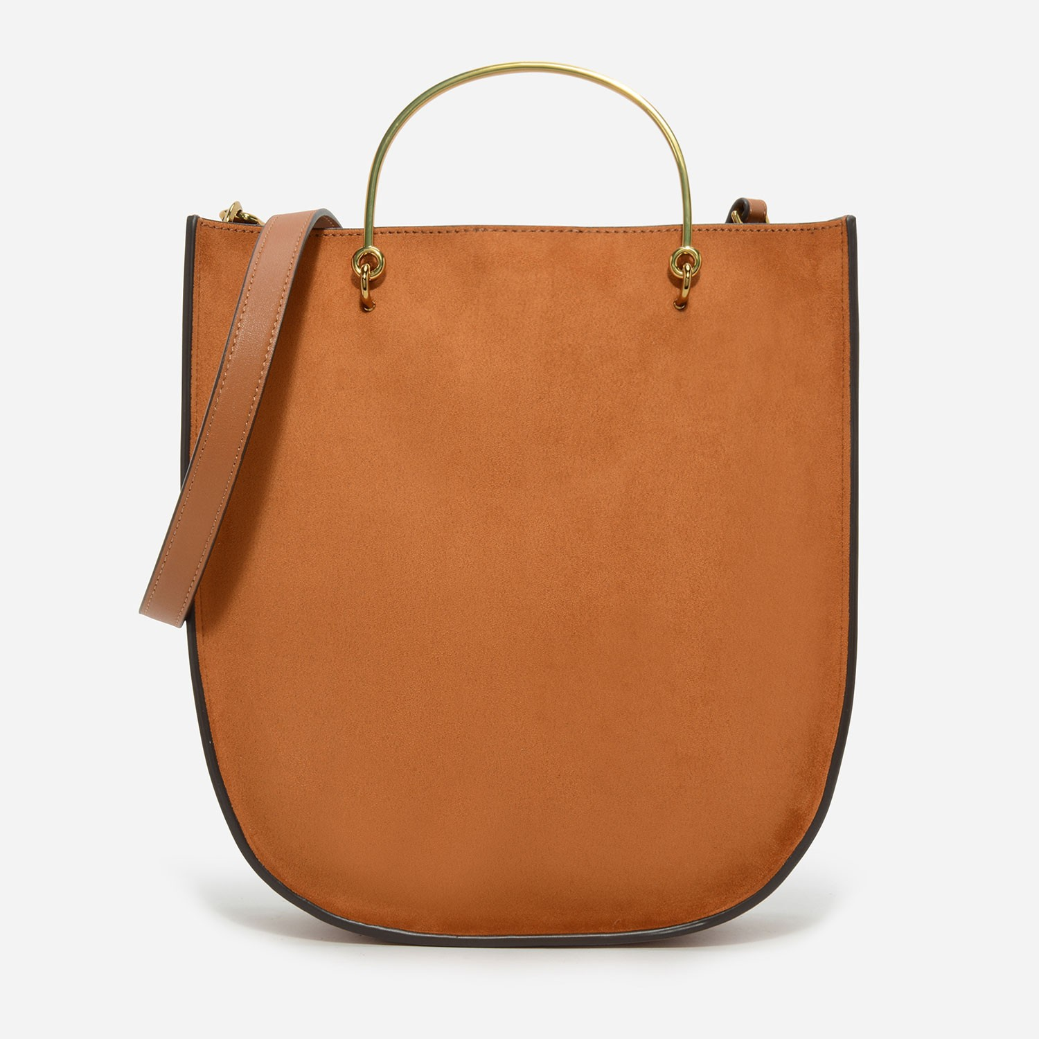 Cognac Curved Base Tote Bag | CHARLES & KEITH