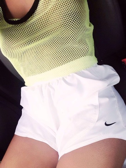 blouse neon yellow net running shoes nike womens sportswear