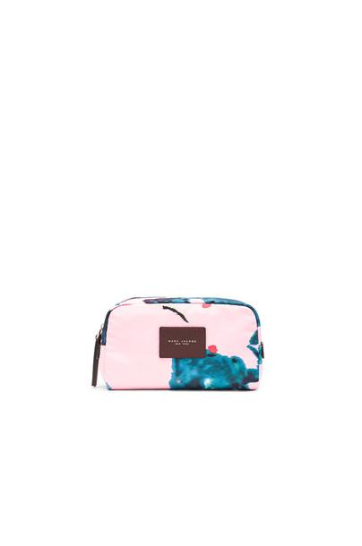 cosmetic bag bag floral pink