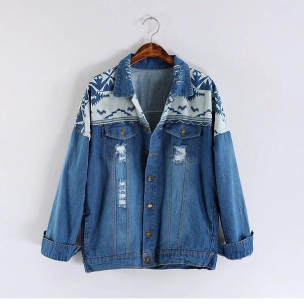 jacket blue jeans