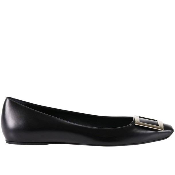 Roger Vivier ballet women flats shoes ballet flats black
