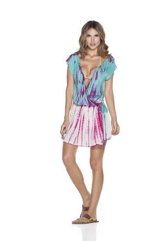 dress beach dress tie dye dress