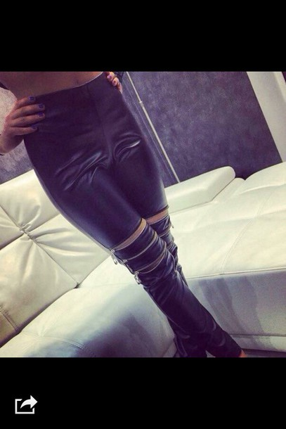 jeans leather jeans