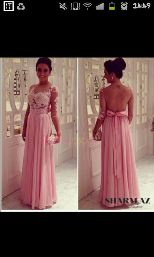 dress prom dress illusion type dress roses pink dress floral dress