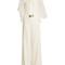 Swan-embellished twisted halterneck cady jumpsuit