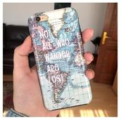phone cover,catching rainbows,wanderlust,iphone 7 case,map print,map,travel,accessories,Accessory