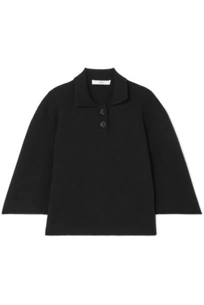 Tibi top black wool