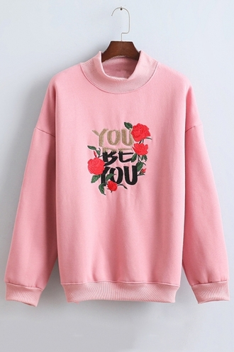 sweater pink fashion style trendy cool girly long sleeves beautifulhalo