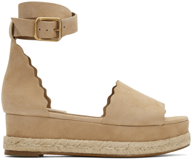 Chloe sandals suede beige shoes