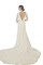 Beige long sleeve wedding dress (45679)