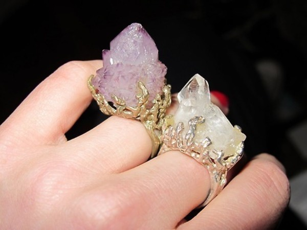 jewels rough stone ring ring raw stone crystal
