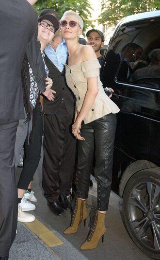 top pants cara delevingne streetstyle fashion week 2017 paris fashion week 2017 sunglasses