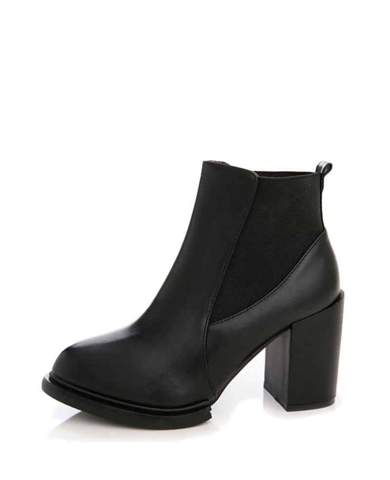 pointed toe black leather chelsea boots
