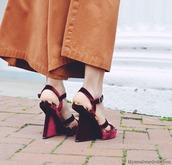 shoes,velvet sandals,sandals,sandal heels,high heel sandals,burgundy,velvet,velvet shoes,wedge sandals