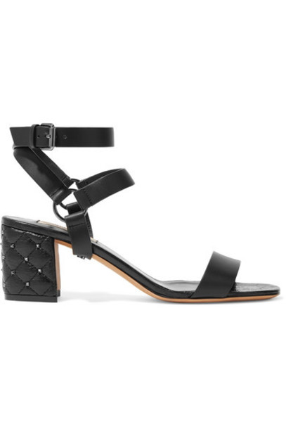 Valentino sandals leather sandals leather black shoes