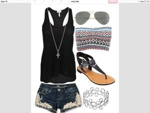 shoes jewels top sunglasses