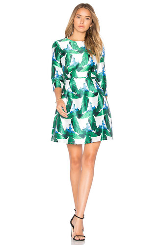 dress flare dress flare fit green