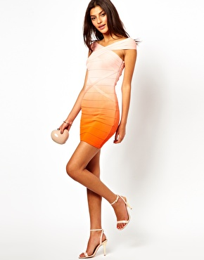 Lipsy | Lipsy Bandage Body-Conscious Dress in Ombre at ASOS