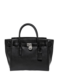 Large hamilton leather top handle bag