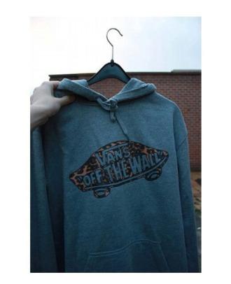sweatshirt hoodie vans vans off the wall vans hoodie blue hoodie streetstyle menswear