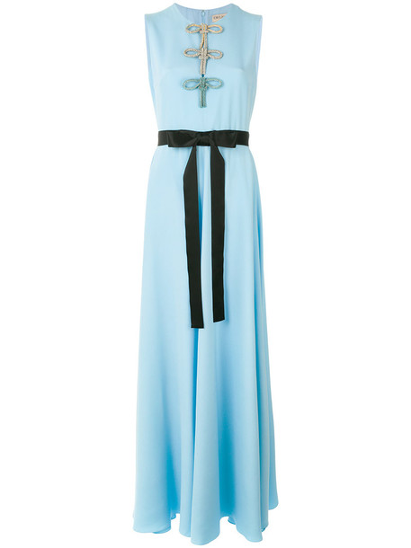 Emilio Pucci dress maxi dress maxi women blue silk