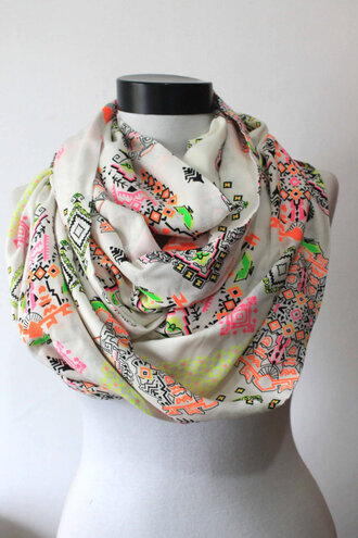scarf tribal scarf cute infinity scarf scarves scarves tribal pattern fashion trendy long scarf