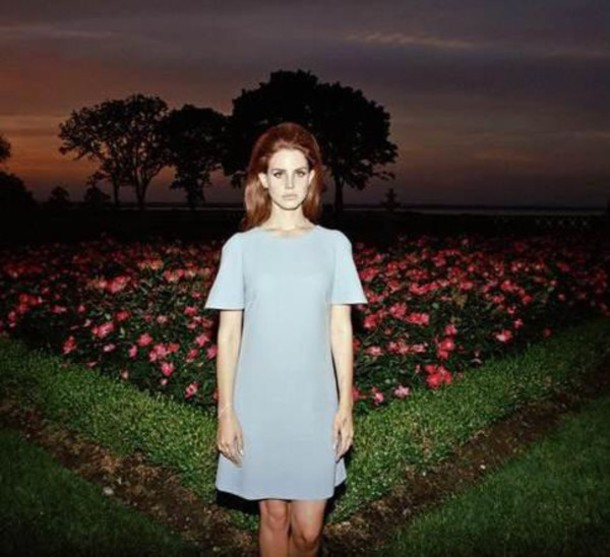 lana del rey blue dress light blue