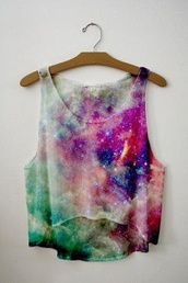 tank top,shirt,blouse,space,glitter,beautiful,colorful,stars,galaxy print,love this look,or can we find it? :),printed crop top,summerhype,galaxy crop top,galaxy shirt,top,galaxy top,crop tops,tumblr,style,cute