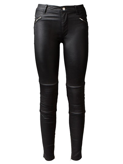 Blk Dnm Leather Skinny Trousers - Montaigne Market - Farfetch.com