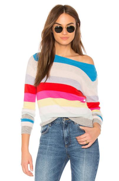 Autumn Cashmere sweater rainbow pink