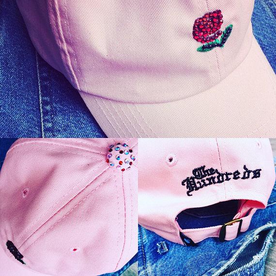 Casquette baseball roses - rose