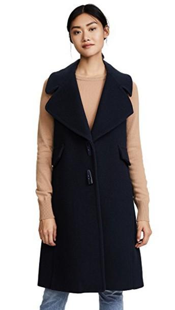 See by Chloe vest blue jacket